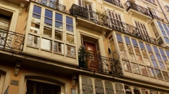 Old street in Palma, Mallorca, Balearic, Spain Stock Footage