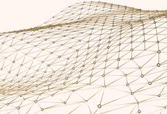 Abstract background of links and connections net nodes isolated 3d illustration Stock Illustration