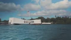 USS Arizona Memorial in Pearl Harbor, Hawaii Stock Footage