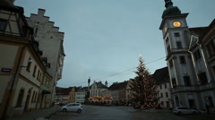 Christmas Hrad Loket marketplace Stock Footage