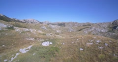 Aerial, Beautiful Durmitor Landscapes, Montenegro Stock Footage