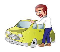 Car Owner, illustration Stock Illustration