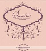 Invitation card with chandelier Stock Illustration