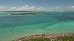 Aerial view of uninhabited Bahamas islands Stock Footage