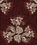 Vintage background with ornate elegant floral design Stock Illustration