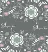 Vintage background with elegant retro floral design Stock Illustration