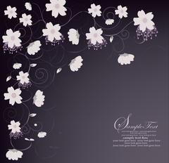 Spring floral background with place for your text Stock Illustration