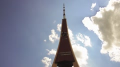 Riga Radio and TV Tower in Latvia Stock Footage