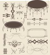 Vintage elements with ornate elegant abstract designs Stock Illustration