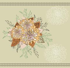 Vintage background with elegant abstract floral design Stock Illustration