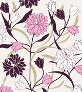 Vintage background with elegant retro abstract floral design Stock Illustration