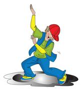 Vector of boy dancing. Stock Illustration
