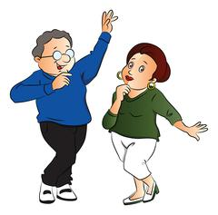Vector of couple dancing. Stock Illustration