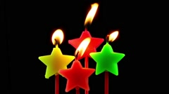 Star candles Stock Footage