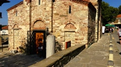 Church of Christ Pantocrator, Bulgaria, Nesebar Stock Footage