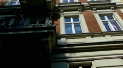 Street Feuerbachstrasse in Potsdam, Germany Stock Footage