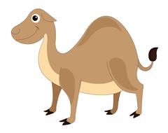 Cute brown camel, illustration Piirros