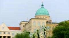 St. Nicholas Church in Potsdam, Germany Stock Footage