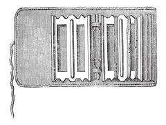 Fisherman's Portfolio, vintage engraving Stock Illustration