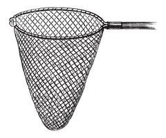Shrimping Net, vintage engraving Stock Illustration
