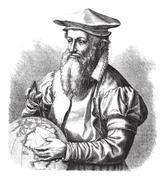 Gerard Mercator, vintage engraving. Stock Illustration