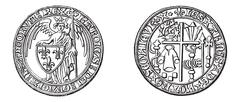 Ancient Coins, vintage engraving Stock Illustration