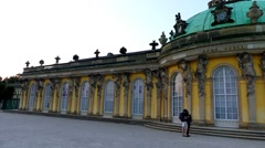 Sanssouci is summer palace in Potsdam, Germany Stock Footage