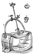 Nelaton compressor to the aorta, vintage engraving. Stock Illustration