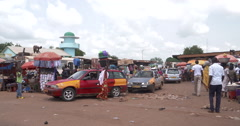 Coach station in Tamale Stock Footage