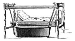 Dupoint device for transportation of sick patient from their bed Stock Illustration