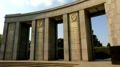 Soviet War Memorial (Tiergarten), Berlin, Germany Stock Footage