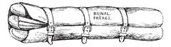 Scultet device folded. vintage engraving Stock Illustration