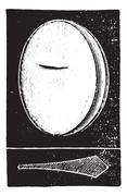 Prismatic glass, vintage engraving. Stock Illustration
