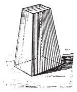 Truncated pyramid, vintage engraving. Stock Illustration