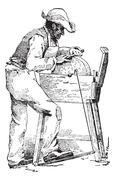 Grinder, vintage engraving. Stock Illustration