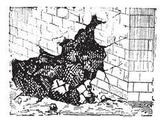 Sapping, vintage engraving Stock Illustration