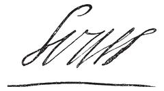 Signature of Louis XIV or Louis the Great or Sun King, King of France (1638-1 Stock Illustration
