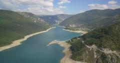 Aerial, Pivsko Jezero At Pluzine, Montenegro Stock Footage