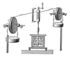Thermodynamic, vintage engraving. Stock Illustration
