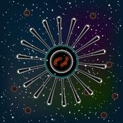Vector image Molecules background illustration Stock Illustration
