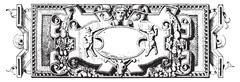 Ornament, Renaissance Sculpture , vintage engraving. Stock Illustration