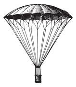 Parachute, vintage engraving. Stock Illustration