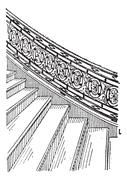 Stone Staircase made of Silt, vintage engraving Stock Illustration
