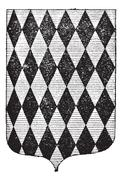 Diamond Coat of Arms, vintage engraving Stock Illustration