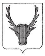 Moose Coat of Arms, vintage engraving Stock Illustration