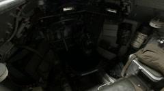 Scout Car interior Camera Crane shot Stock Footage