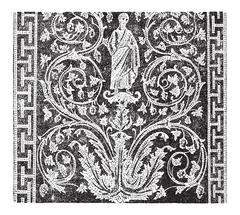 Mosaic, in the Mausoleum of Galla Placidia in Ravenna, Italy, vintage engravi Stock Illustration
