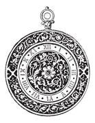 Watch Dial, vintage engraving Piirros
