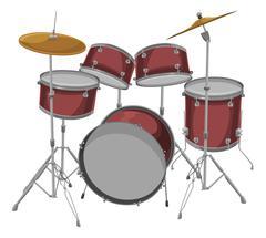 Vector of drum set. Stock Illustration