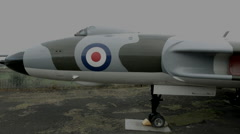 British Vulcan Bomber crane shot Stock Footage